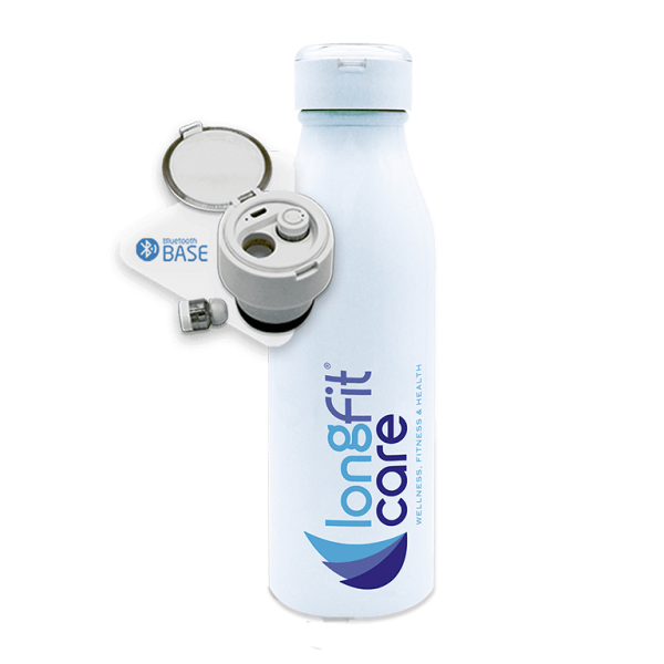 botella térmica con auriculares bluetooth - longfit care wellness fitness health